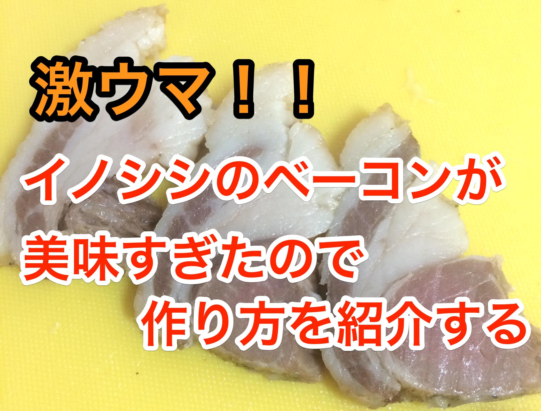激ウマ『イノシシのベーコン』が美味すぎたので作り方を紹介する